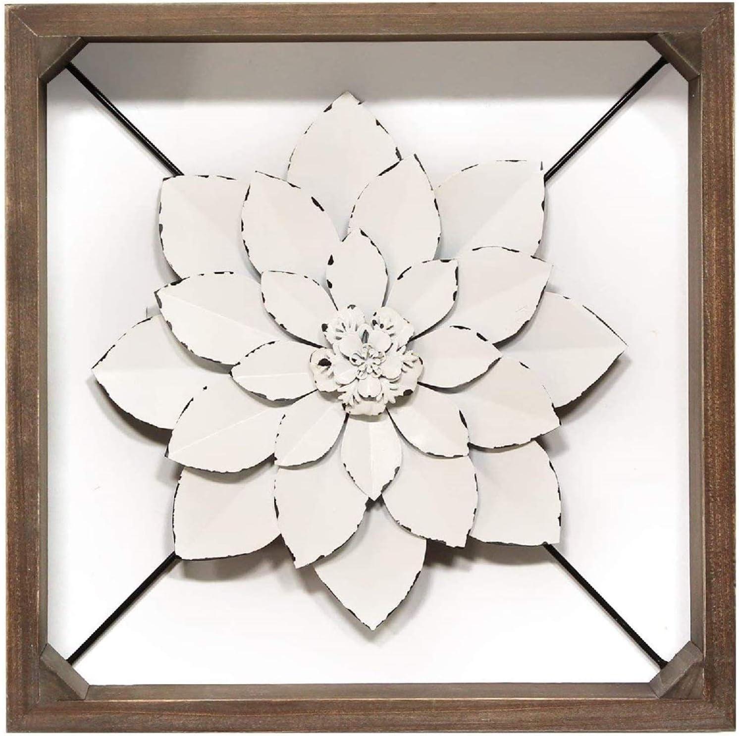 Stratton Home Décor Stratton Home Decor Framed Metal Flower, 15.75