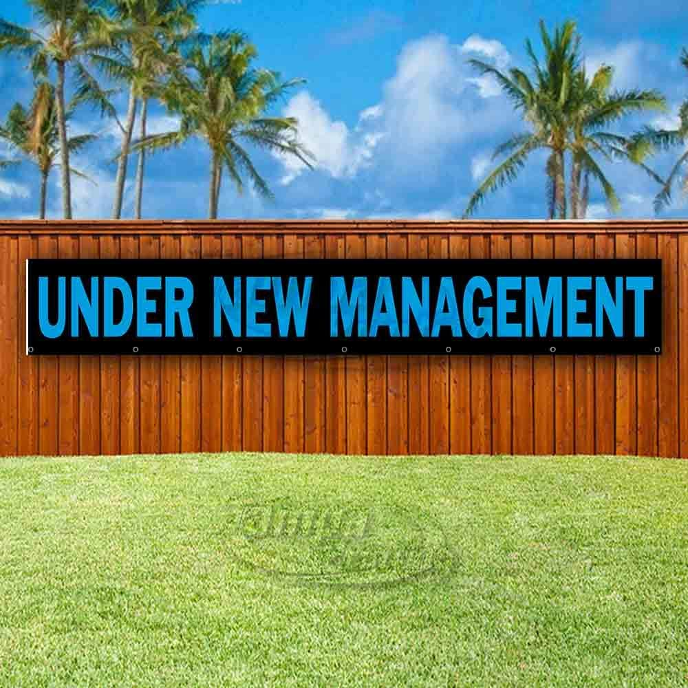 Under New Management Extra Large 13 oz Heavy Duty Vinyl Banner Sign with Metal Grommets Flag, Store Advertising Many Sizes Available New