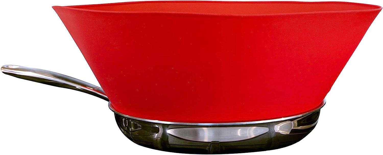 Amazon Com Frywall 10 Medium Red Splatter Guard As Seen On Shark Tank Kitchen Dining