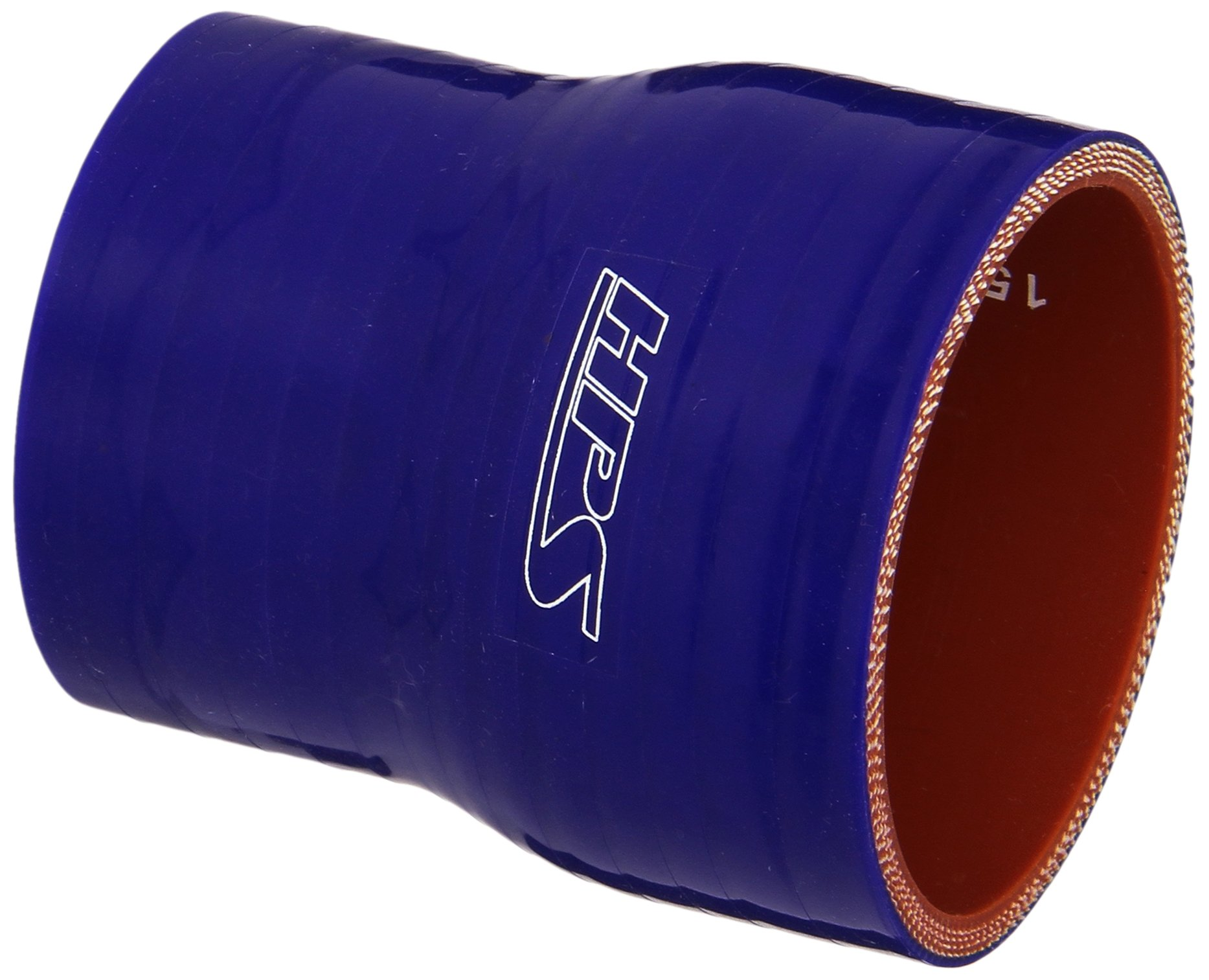 HPS HTSR-200-238-BLUE Silicone High Temperature 4-ply Reinforced Reducer Coupler Hose, 80 PSI Maximum Pressure, 3'' Length, 2'' > 2-3/8 ID, Blue