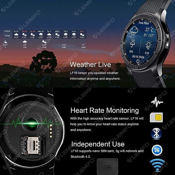 Amazon.com: TLgf Smartwatch Multifunctional GPS/WiFi/SIM ...