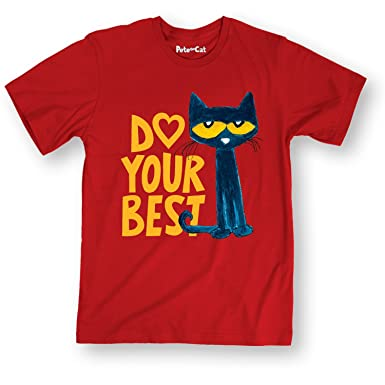 52be0fd8 Amazon.com: Pete the Cat Pete Do Your Best - Adult Short Sleeve Tee:  Clothing