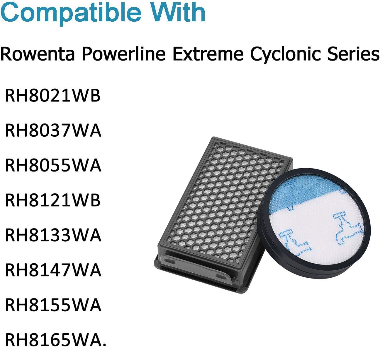 Recambio de filtro HEPA para Rowenta Powerline Extreme Cyclonic ...