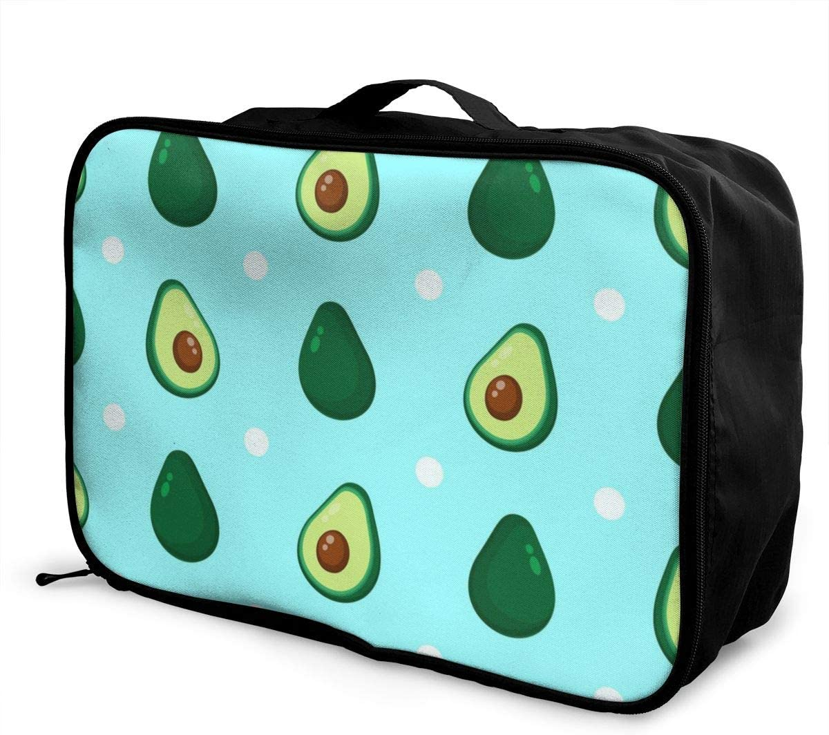 Yunshm Cute Avocado Dotted Customized Trolley Handbag Waterproof Unisex Large Capacity For Business Travel Storage