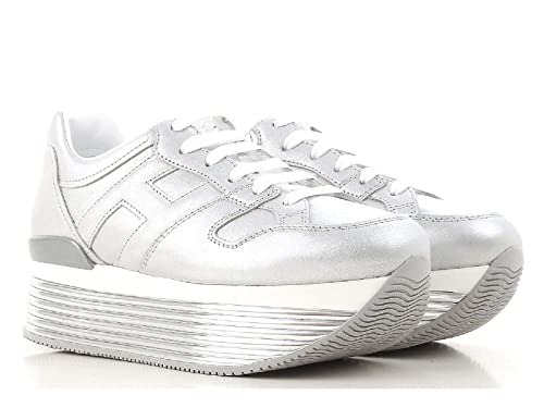 Hogan Maxi H222 Sneakers HXW3520T548I6EB200 Argento Donna  Amazon.it  Scarpe  e borse d85763bc6b7