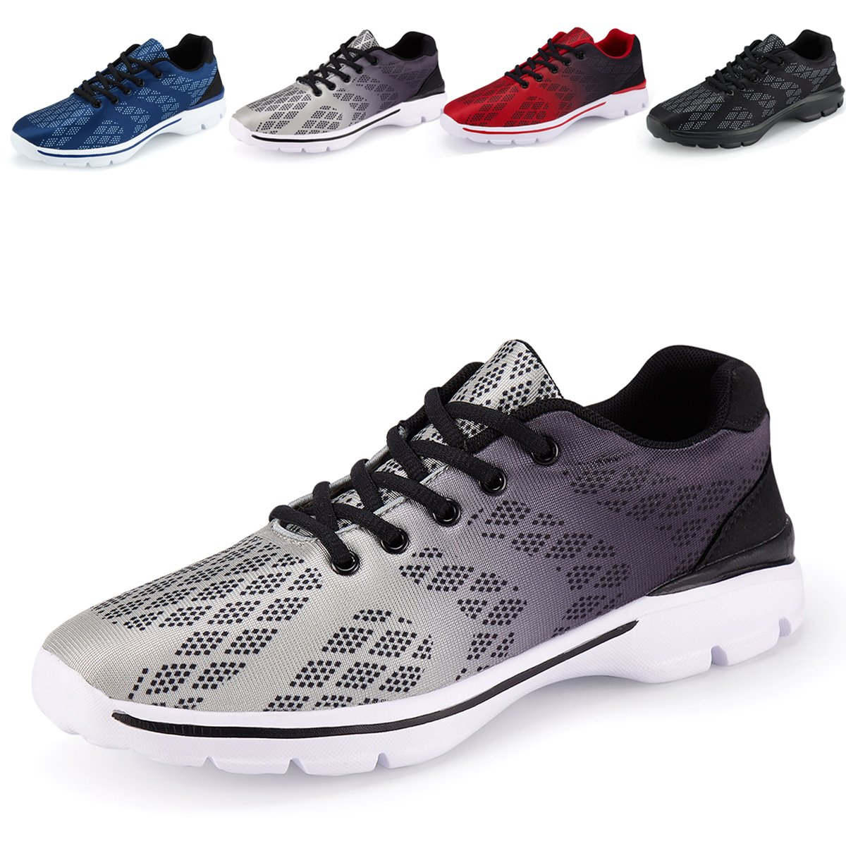 Mens Casual Walking Shoes Lightweight Breathable Running Tennis Sneakers by Caitin