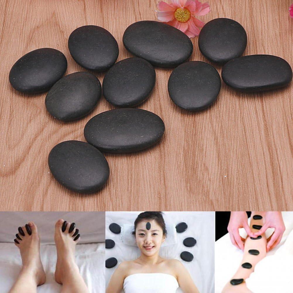 7 piedras de masaje profesional, piedra de masaje natural de lava para terapia de lava, spa caliente, piedra de basalto, terapia de masaje