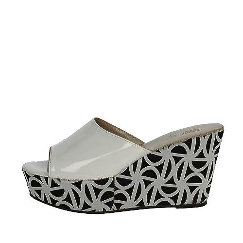 Cinzia Soft 4963 Mules Femme Blanc Blanc - Chaussures Mules Femme