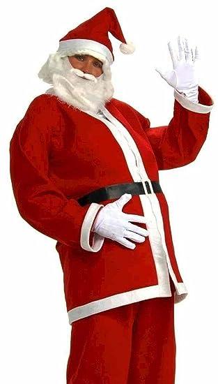 Amazon.com: 5 piezas Traje de Santa Claus Navidad Fancy ...