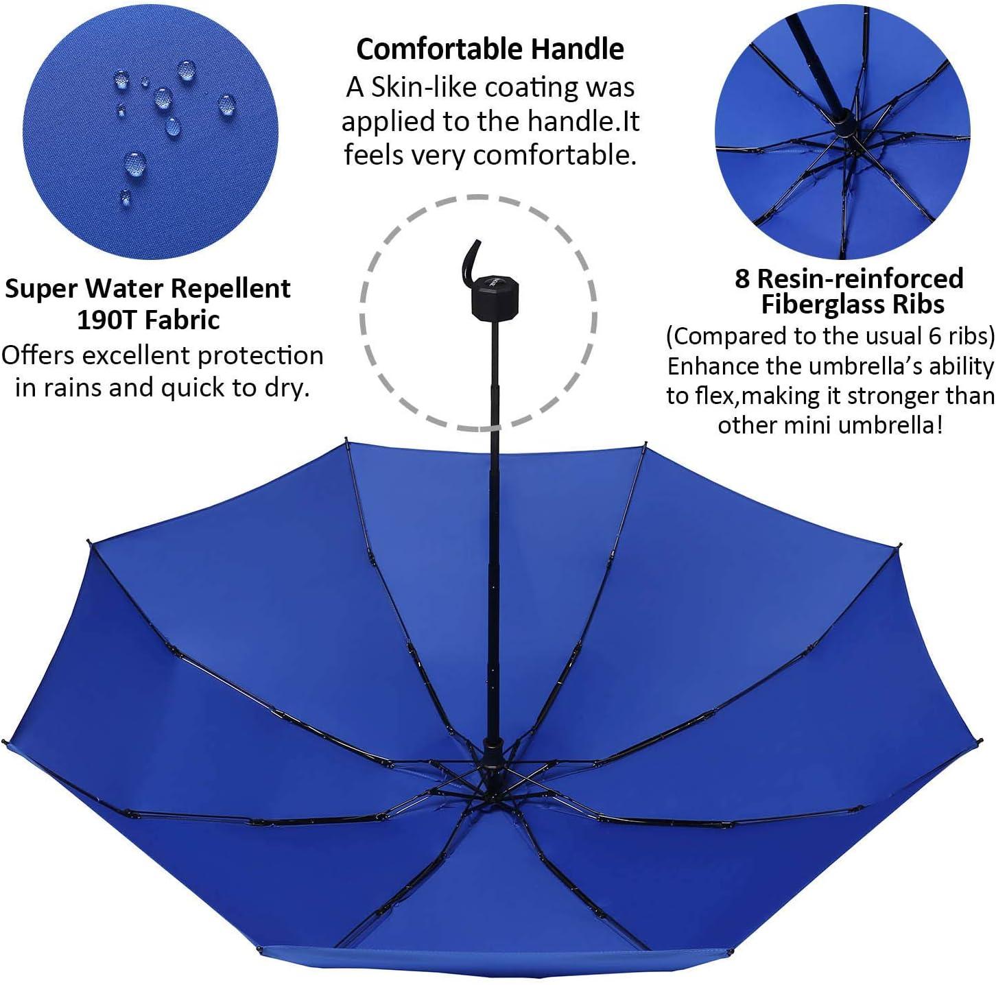 James Fashion Paraguas Compacto de Calidad, Resistente al Viento, Paraguas de Viaje, Ligero, Mini Paraguas para Bolsillo, Azul (Azul) - zheyangsnn4552: Amazon.es: Equipaje