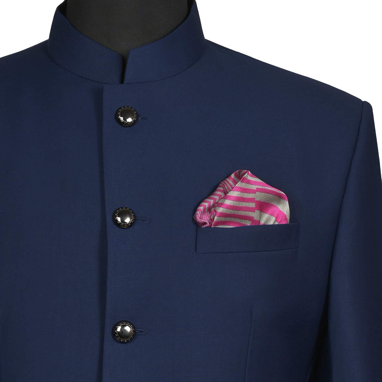PL81408/_71D Chokore Pink /& Light Grey Silk Pocket Square from the Plaids Line/_