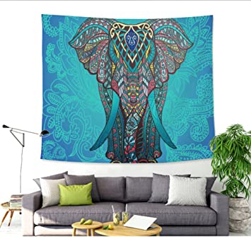 Multicolor Bohemian Elephant Tapiz étnico Elefante pared colgantes decoración Indian Home pared hippie colgantes decoración Beach Camino de mesa de alcance ...