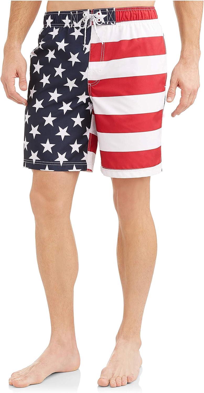 George American Flag Mens Swim Trunks