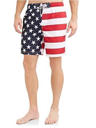 8b4af0afeec George American Flag Mens Swim Trunks | Amazon.com