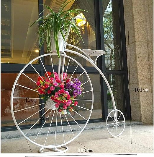 Estantes para Flores Multifunción Hierro Bicicleta Marco De La ...