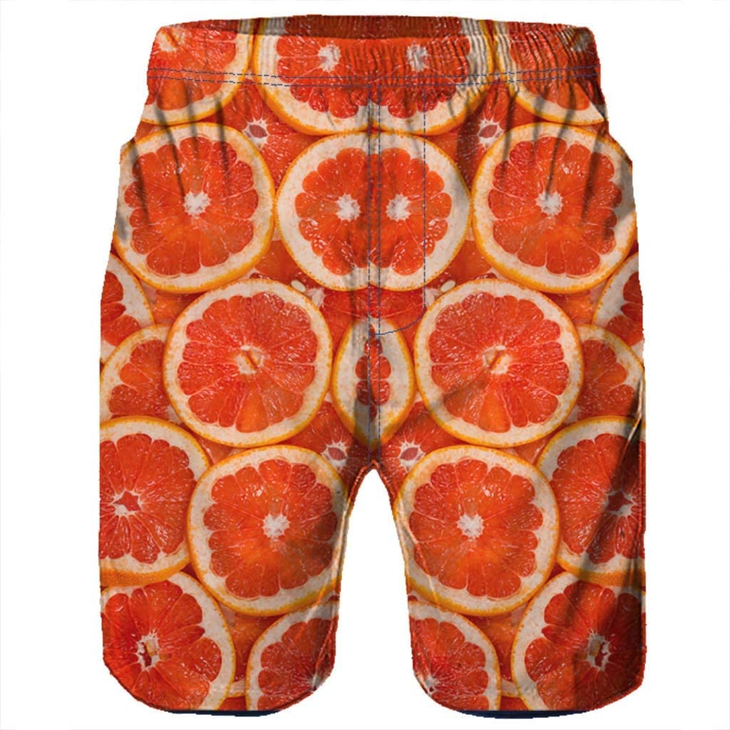 MODOQO Mens Swim Trunks Casual Loose Fit Quick Dry 3D Print Summer Surfing Shorts Pants
