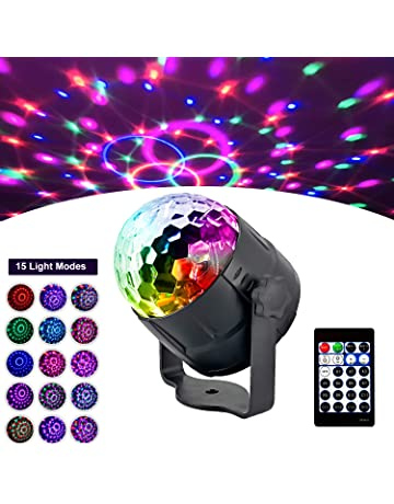 Lumi/ères Led Disco Boule magique en cristal mini effet de sc/ène DJ Lumi/ère de f/ête activ/ée par le son 3 en 1 Veilleuse avec haut-parleur Bluetooth sans fil RVB 10W