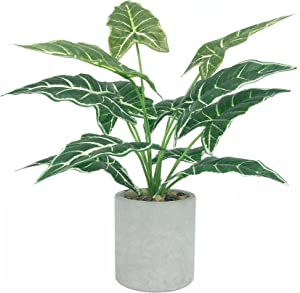 LUBERDUSH Fake Plants Artificial Potted Plastic 16