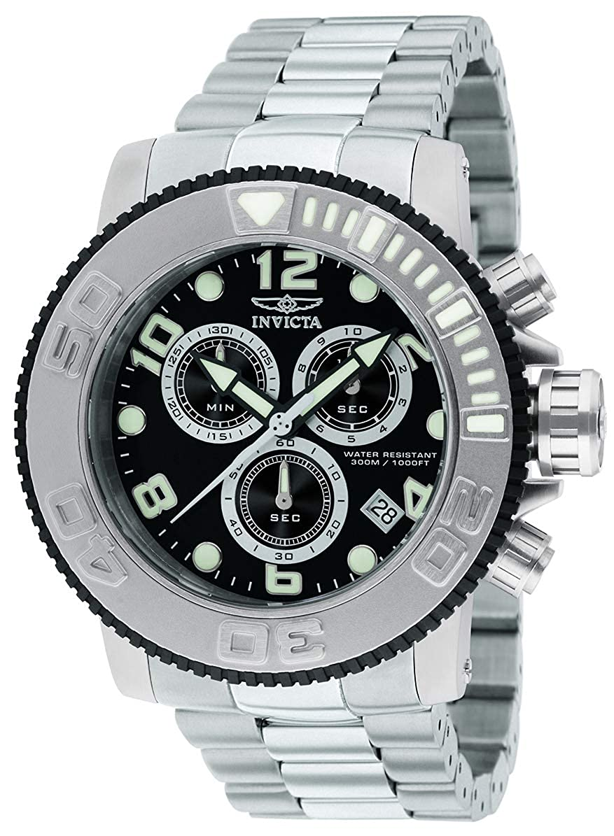 Chronograph 12400 Sea Invicta Dial Black Hunter Watch Men's fyY76bg