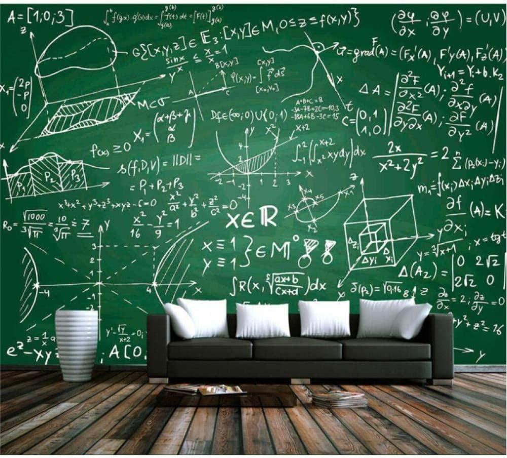 Amazon Ljunj カスタム3d壁紙リビングルーム黒板チョーク数学数式壁紙家の装飾テレビ背景バー研究 250x175cm 壁紙
