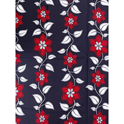 Amazon Com African Fabric 6 Yards Real Wax Blue Red White Flower