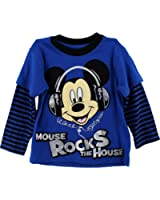 "Disney Mickey Mouse ""Mouse Rocks the House"" Layered T-Shirt 2T-5T"
