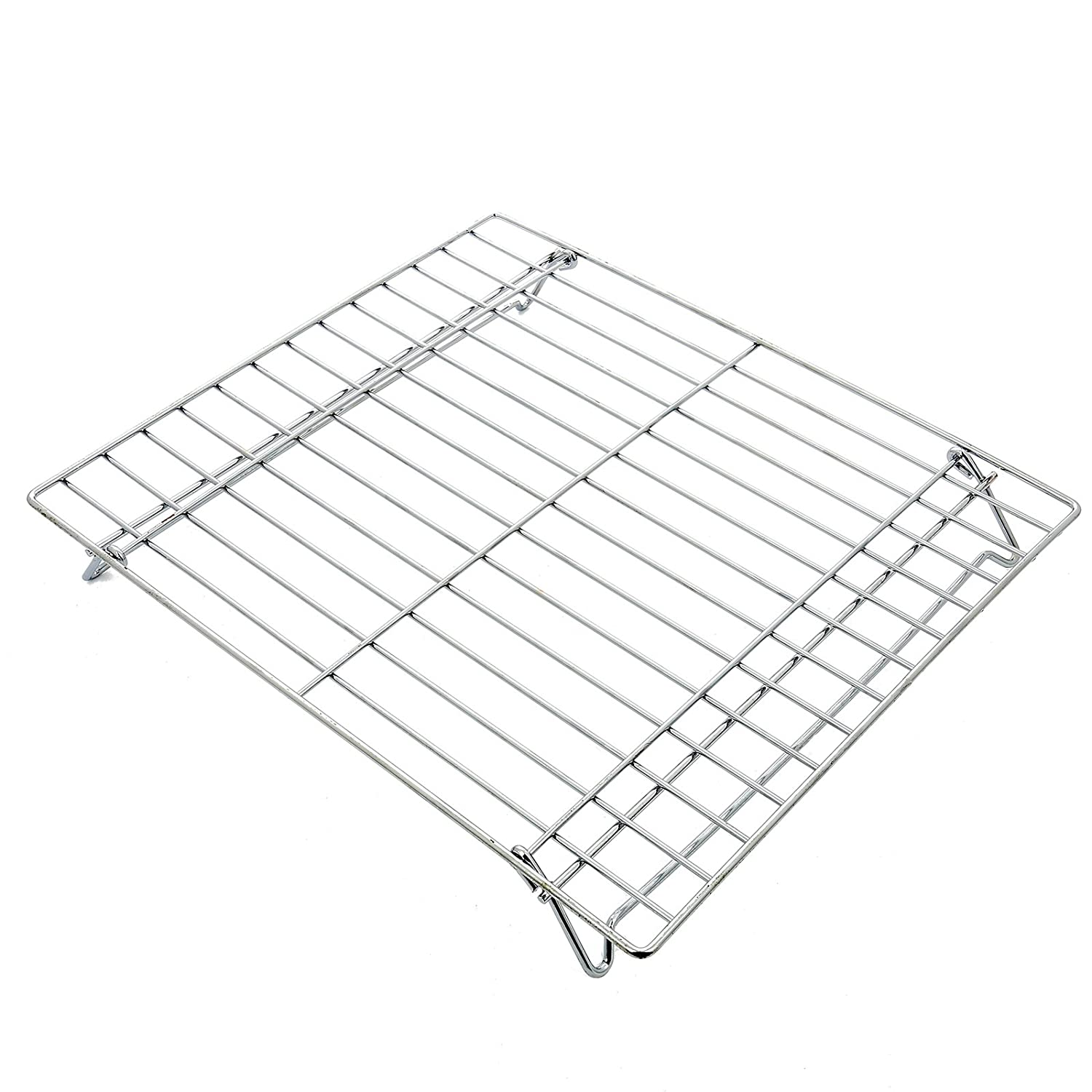 Qualtex Universal Folding Base Oven Cooker Shelf Rack Grill Tray 380mm x 320mm