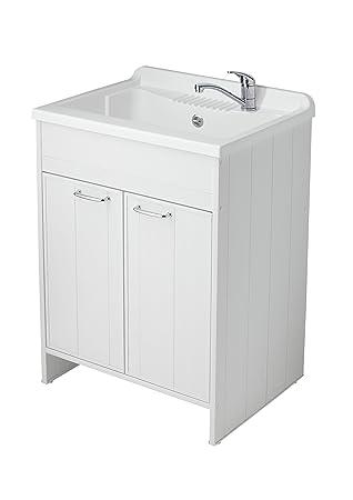 Negrari 9002k lavatoio lavapanni pvc 60 attrezzature for Meuble buanderie avec bac a laver