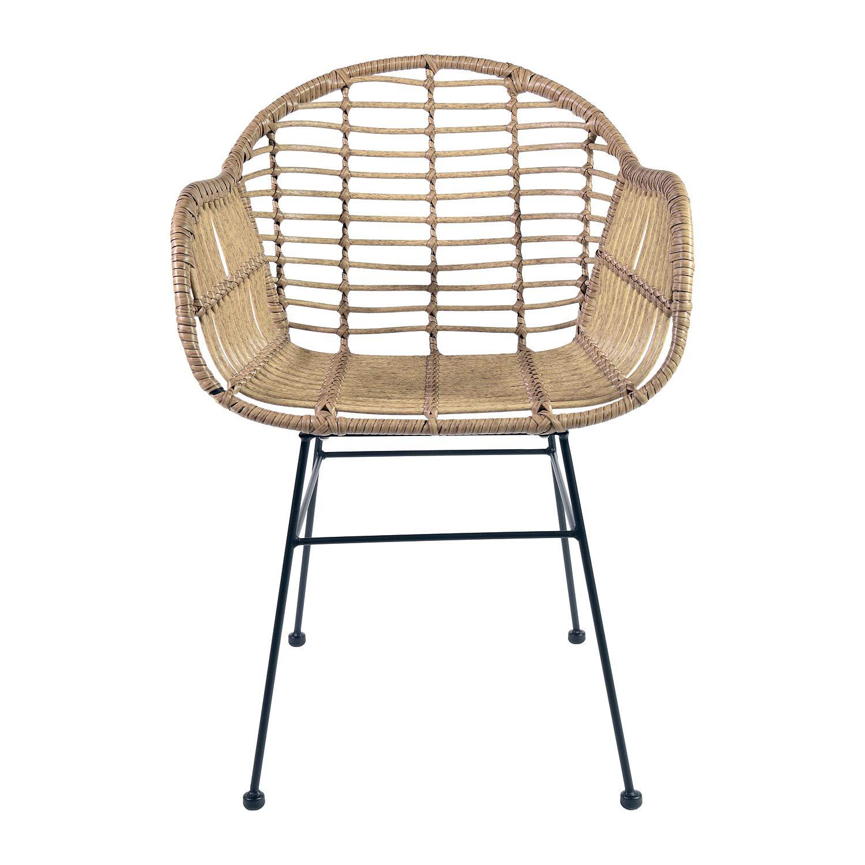 Kultliving Gartenstuhl Lounge Stuhl Chair Indoor Outdoor im Bamboo Look