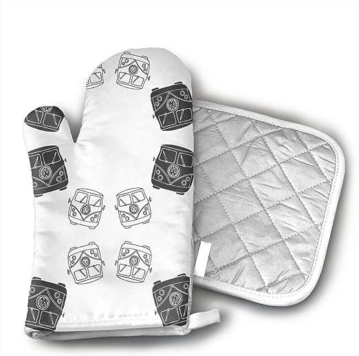 Kitchen Cooking Cotton Microwave Oven Glove Mitt Pot Pad Heatproof Protected