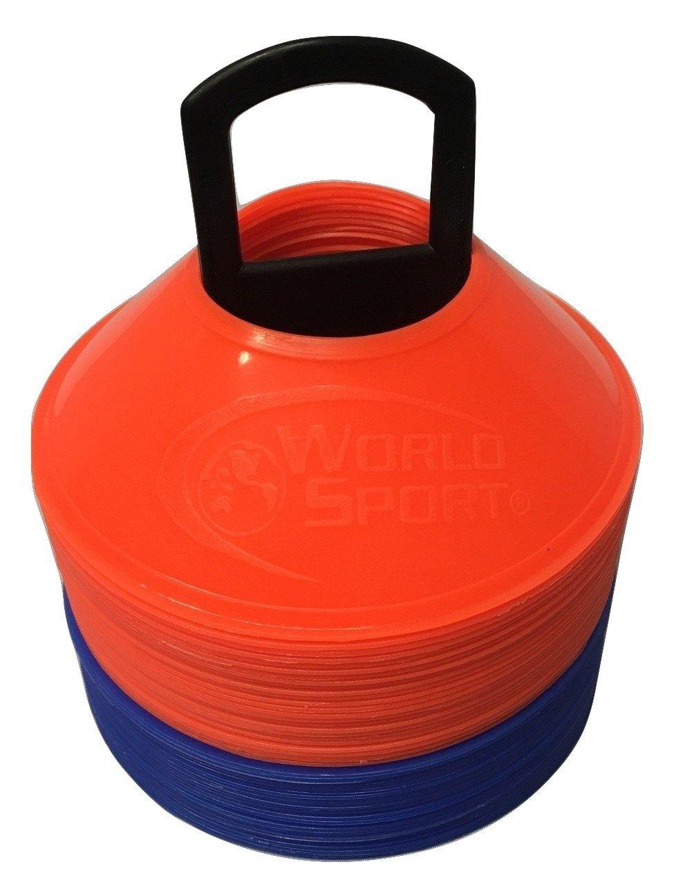 世界スポーツミニディスクコーン25オレンジ/ 25ブルー50パック B01CMIDJWS