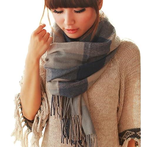 Moda morbido sciarpe inverno caldo Lattice grande scialle sciarpa dell'involucro