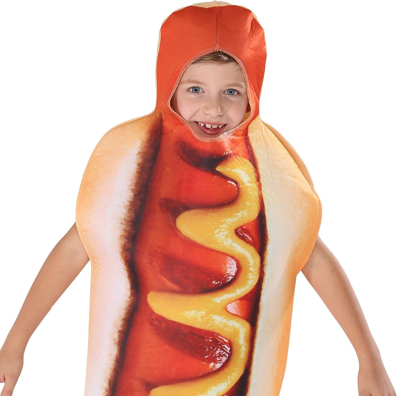 EraSpooky Halloween Hot Dog Kost/üm Fu/ß lang