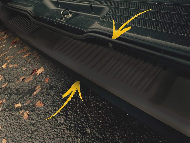 Protector de Parachoques Trasero para Vito W639 2010-2014 Van de Acero Inoxidable Cromado Color Negro antiara/ñazos