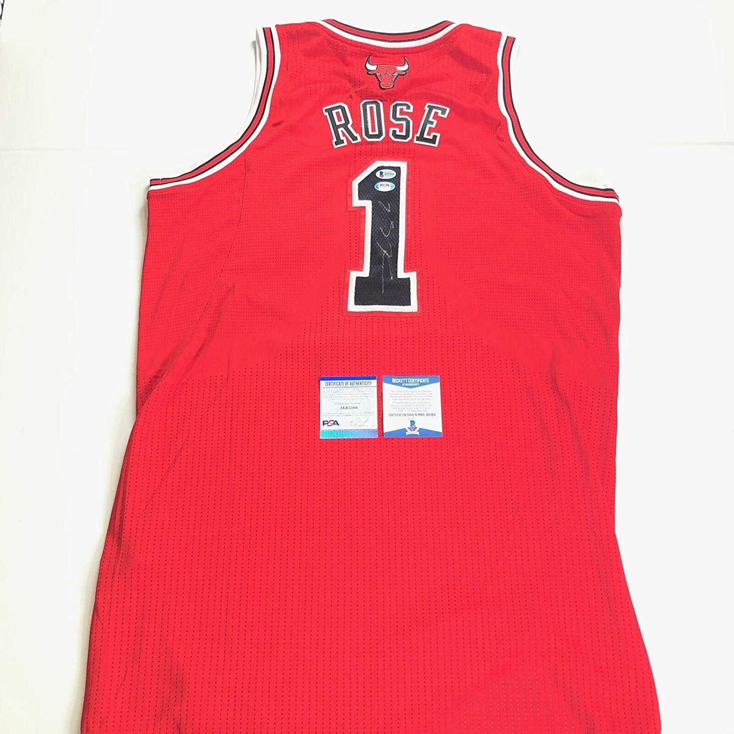 Derrick Rose signed 2010-11 REV 30 jersey Autographed PSA/DNA Beckett Bulls - Autographed NBA Jerseys