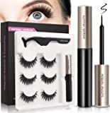 Magnetic Eyeliner and Magnetic Eyelash Kit, Natural Look, Waterproof and Smudge Resistant, Magnetic Lashliner For Use…