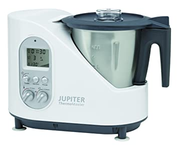 Jupiter Thermomaster 1500W 2L Negro, Acero inoxidable, Color blanco - Robot de cocina (