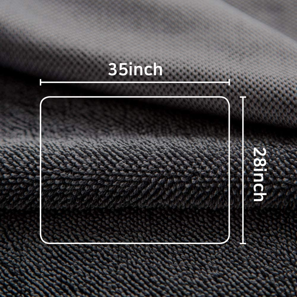5 Pack 24x16 inch MR.LUSTRE Microfiber Edgeless Multipurpose Towels for Cars Washing Waxing Buffing Non-Scratch Car Cleaning Towel Auto Detailing Cloth