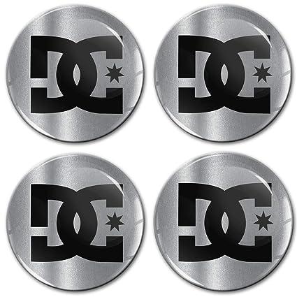 Skino 4 x 60mm Adhesivo Pegatinas DC para Tapas de Rueda de ...