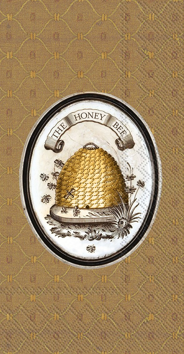 Celebrate the Home Lori Siebert 3-Ply Paper Guest Towels/Banquet Napkins, The Honey Bee, 16-Count
