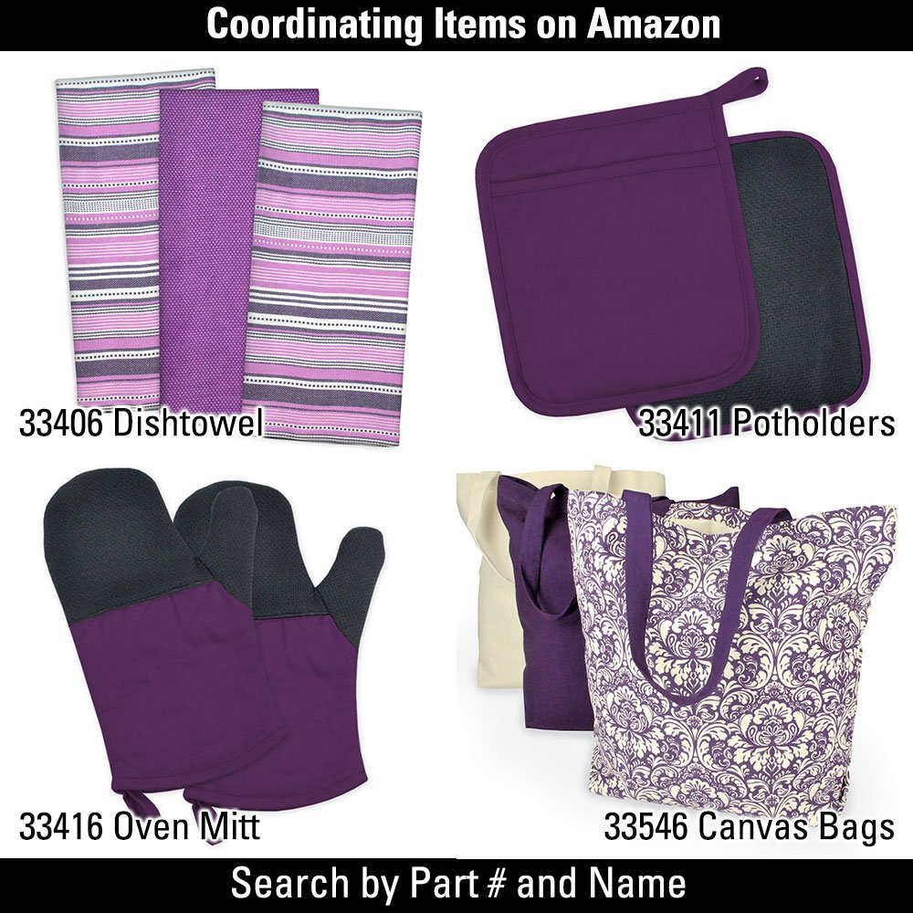 DII Oversized 20x20 Cotton Napkin, Pack of 6, Variegated Eggplant Purple - Perfect for Fall, Halloween, Dinner Parties, BBQs and Everyday Use by DII (Image #5)
