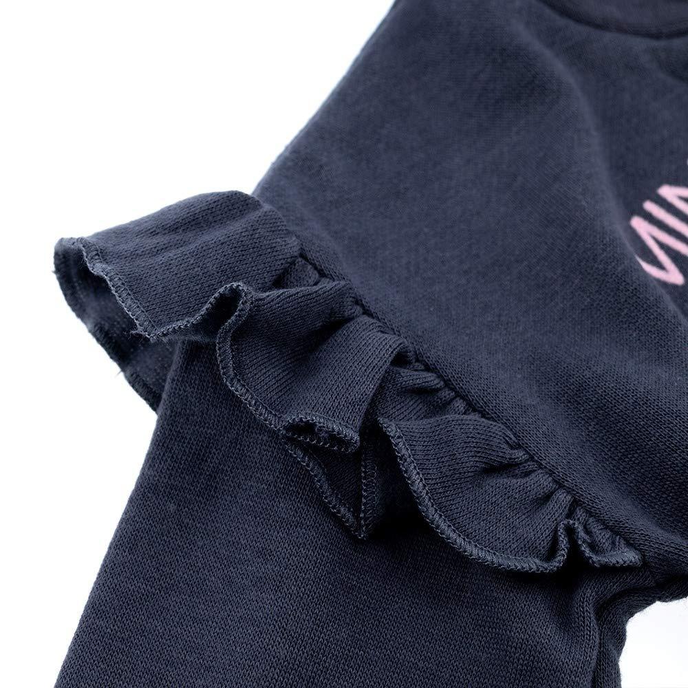 Motiv: Minnie Mouse Baby Sweatshirt mit R/üschen Disney Baby Pullover M/ädchen grau Gr/ö/ße: 3-6 Monate 68