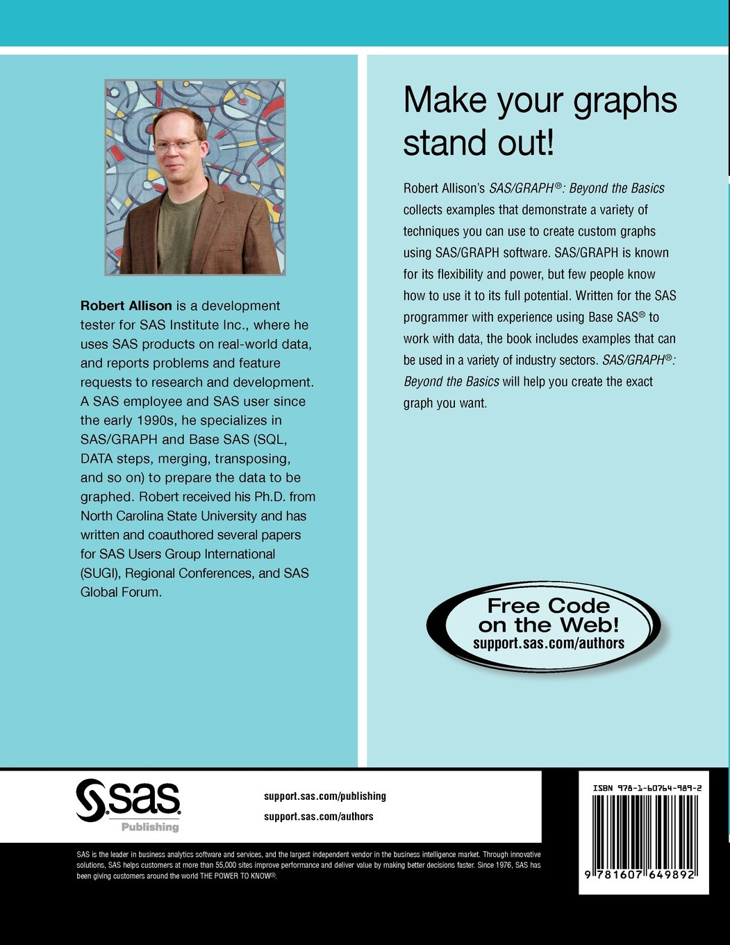SAS/GRAPH: Beyond the Basics: Amazon.co.uk: Robert Allison Ph.D.:  9781607649892: Books
