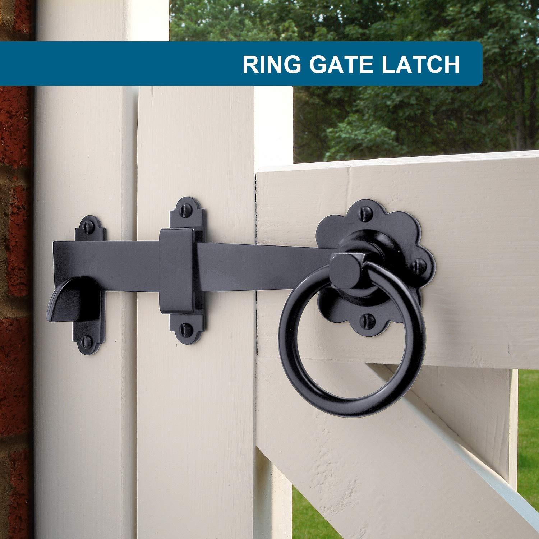 hardware para puertas negro Pestillo de seguridad