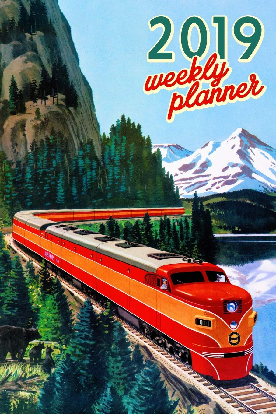 2019 Weekly Planner: Train Engine EMD E7 Organizer Schedule ...