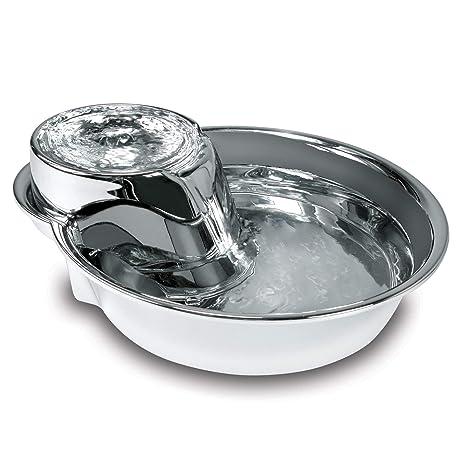 Amazon.com: smartcat Big Max Pet Fuente de agua de acero ...