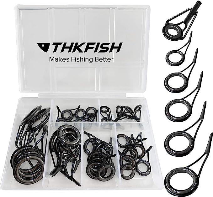 set Canna da pesca Guida Tip Pole Eye Ring Rod Kit di riparazione 18pcs