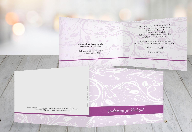 Kartenparadies Hochzeitskarte Hochzeit Einladung Blättertraum 2, hochwertige Einladung zur Heirat inklusive Umschläge   10 Karten - (Format  148x105 mm) Farbe  Schwarz B01N364C3F | Billig  | Professionelles Design  | Moderne Technologie