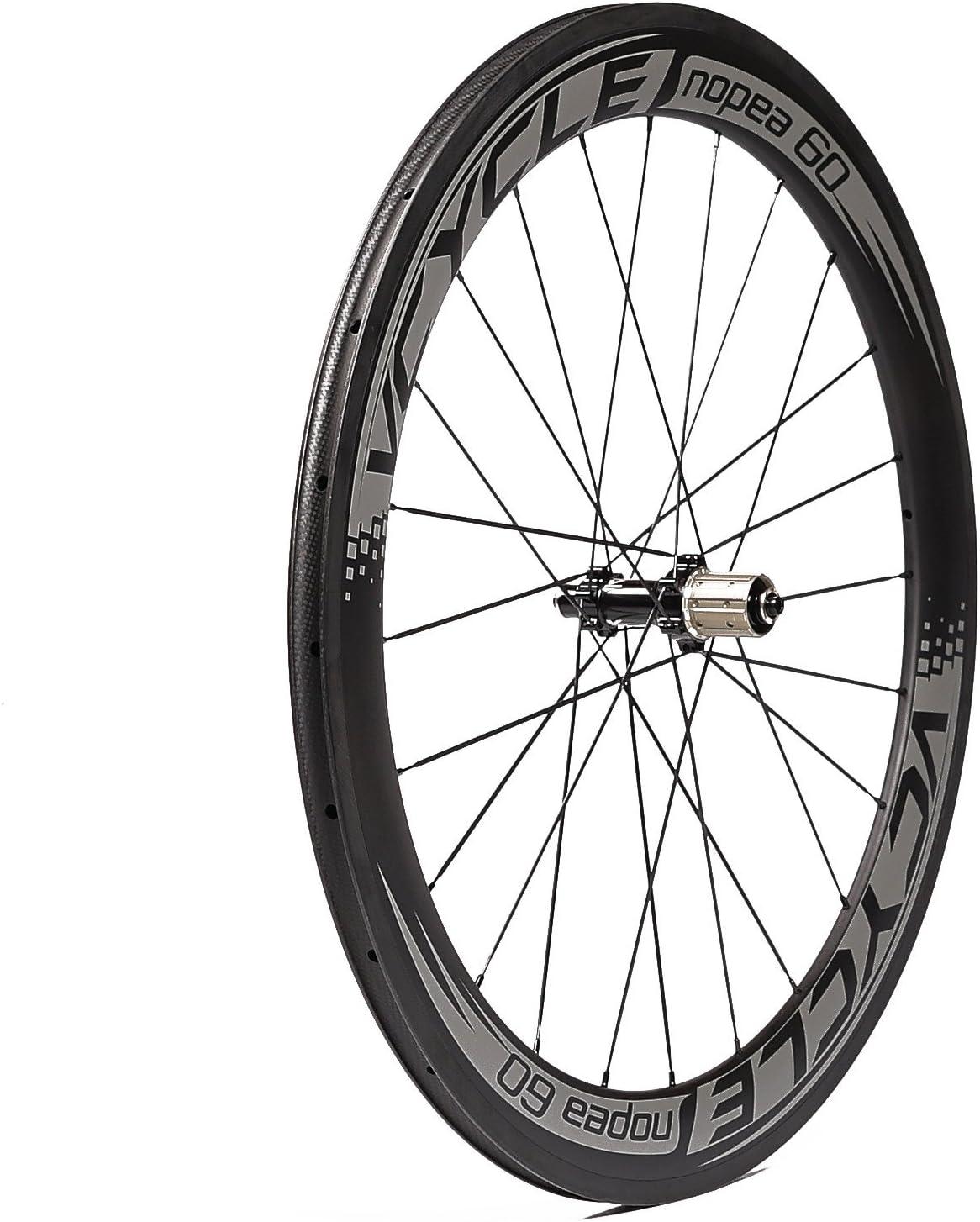 VCYCLE Nopea 700C Carbono Carretera Bicicleta Ruedas 60mm Cubierta ...