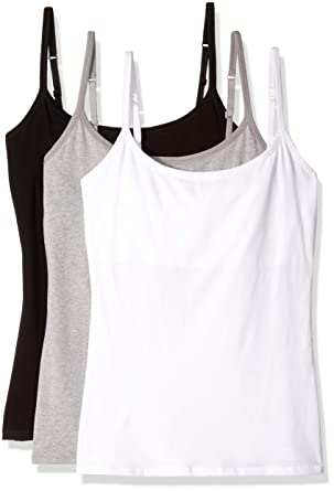 40d8594f7f110 Pact Womens Everyday Camisole w Shelf Bra 3-Pack at Amazon Women s Clothing  store